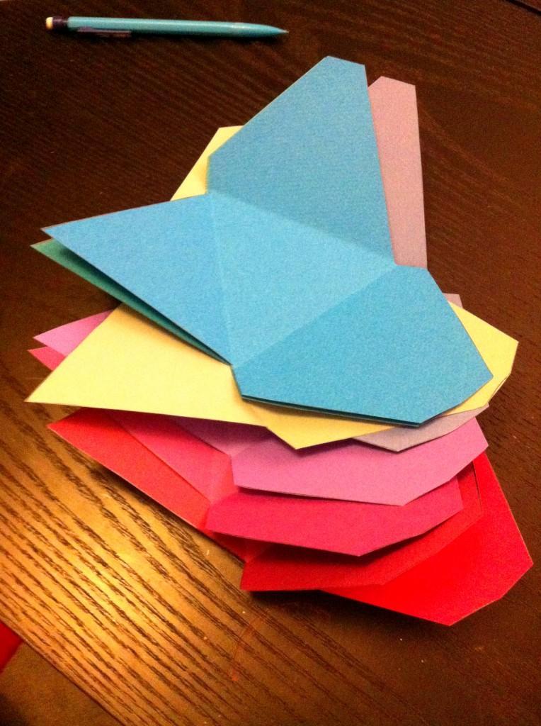 triangles origami